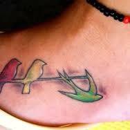 bob marley-three little birds in jamaican colors tattoo - Google Search