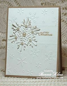 Stamping with Klass: A Snowflake for Merry Monday