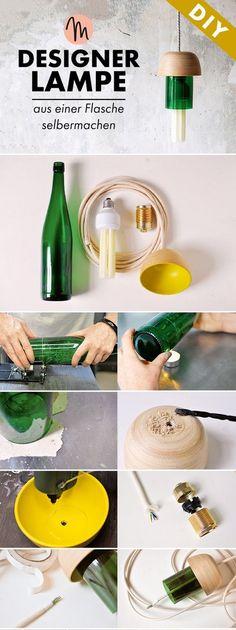 EL MUNDO DEL RECICLAJE: DIY lámpara reciclando bombilla