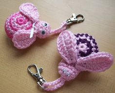 ...Bugs and Flowers key holder- This would make a cute pacifier holder too