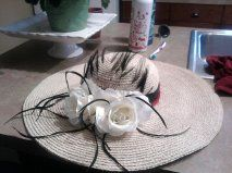 This is a hat I would wear to the horse races with a black and white polka dotted dress and red high heels!