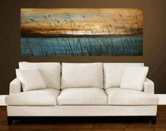 "painting 72"" wall art abstract landscape Painting  Wall Decor Decorative Arts from Jolina Anthony"