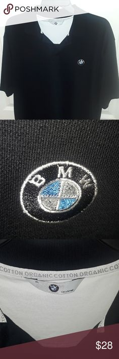 BMW  Mens polo X- large BMW men's polo x-large, gently used condition no rips or stains. Made with organic cotton made in Portugal beautiful BMW quality. Has signature BMW logo on polo. Beautiful lightweight Polo great for a BMW fan smoke-free home ask questions is all sales are final happy Poshing. BMW Shirts Polos