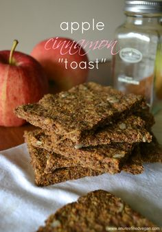 "Cinnamon Apple ""Toast."" Raw, Gluten- and Sugar-free."