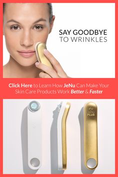 The JeNu Infuser is a revolutionary device that utilizes painless ultrasound technology to increase the skin's ability to absorb treatment products. Much of the ingredients that we apply topically continue to sit atop the skin before they evaporate.That's why results you see from your topical products often take so long, and often fall short. JeNu has been clinically proven to increase absorption by six times.  It is pain free, safe and easy to use. Click here for a limited time offer.