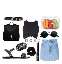 """""""basic black"""" by tainagondariz on Polyvore featuring Vetements, Steve Madden, NARS Cosmetics, B-Low the Belt, Proenza Schouler, women's clothing, women, female, woman and misses"""