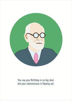 Happy 158th birthday!  Sigmund Freud; 6 May 1856 Freiberg in Mähren, Moravia, Austrian Empire