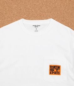 Free Shipping > Free Returns > Shop the Stanton Street Sports Bodega T-Shirt in White at Flatspot, premium skateboard store since 1995.