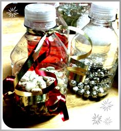 Making sensory bottles for toddlers - cheap, and super entertaining. Bunch of different ideas to use.