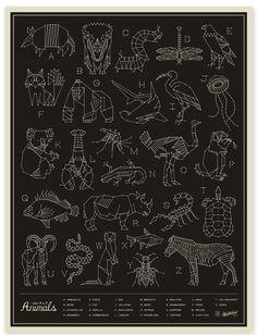 ABC & Alphabet art prints: Animals - Blackby Neighborhood Studio