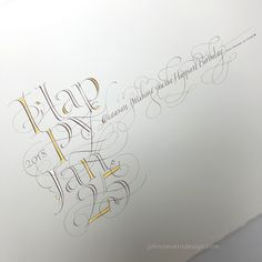 © John Stevens Calligraphy/Lettering/wip on Behance