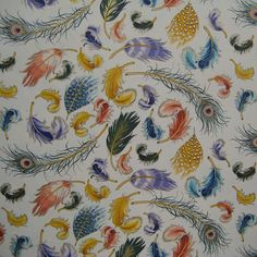 Made In Italy Authentic Florentine Paper With Feather Pattern By Rossi