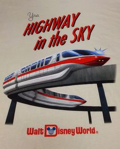 A trip to Disney isn't the same without a ride on the monorail <3