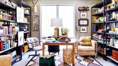 Everything You Need For a Skillfully Styled Bookshelf // bookcase, bookshelves, brass table lamp