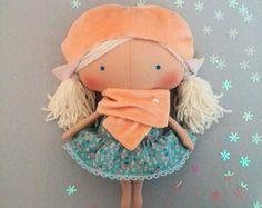 Baby gifts Baby dolls Plush bunny Handmade by HandmadeToyStore