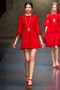 amazing red dress @Dolce & Gabbana  #DG #D