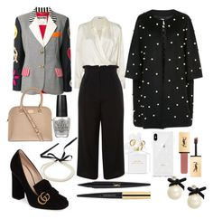 """Work Ready"" by tonialmond ❤ liked on Polyvore featuring T By Alexander Wang, Topshop, Moschino, Gucci, OPI, Edward Achour, Marc Jacobs, Yves Saint Laurent, Kate Spade and Rebecca Minkoff"