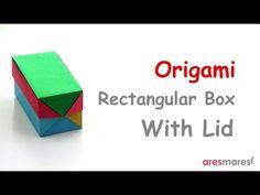 Origami Rectangular Box with Lid (easy - modular) - YouTube