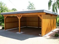 """11 Customized Supplies Wanted to Construct a Picket Carport 11 Custom Materials Needed To Build A Wooden Carport Brenner, Laurie. """"Tips on Buying a Steel Carport. Carport Sheds, Carport Plans, Carport Garage, Pergola Carport, Shed Plans, Wood Carport Kits, Rustic Pergola, Detached Garage, Pergola Patio"""