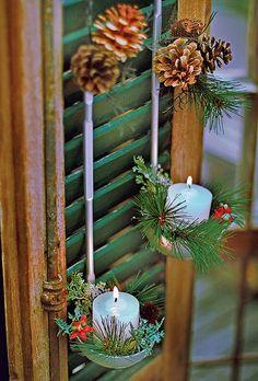 Conchas de sopa podem ser o suporte perfeito para velinhas (Decoração de Natal   Christmas decor)