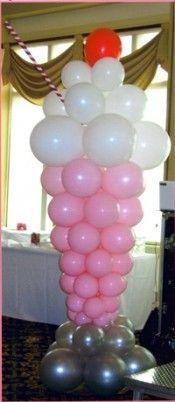 """Ice cream float balloon """"sculpture"""""""