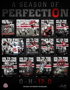 Ohio State Buckeyes. Season of Perfection.