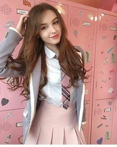 Spring outfits Ideas for school, teen girls outfit for spring and school , Check them out Stylish Girl Images, Stylish Girl Pic, School Girl Outfit, Girl Outfits, School Uniform Fashion, Japonese Girl, Pretty Korean Girls, Cute Girl Dresses, Uzzlang Girl