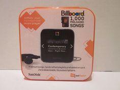 SanDisk slotRadio Music Player + 1,000 Preloaded Songs Billboard Mix Rock #SanDisk