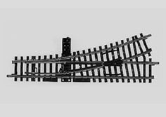 Maerklin-H0-2265-K-Gleis-Handweiche-links-NEU
