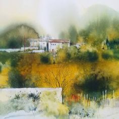 Photo by Antonio Ortega Perez on November Image may contain: tree, sky and outdoor Watercolor Scenery, Watercolor Images, Watercolor Artists, Watercolor Landscape, Abstract Watercolor, Artist Painting, Watercolor Flowers, Landscape Paintings, Watercolor Paintings