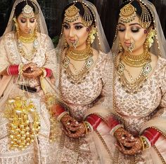@nivetas Sikh Bride, Punjabi Bride, Punjabi Wedding, Punjabi Suits, Indian Wedding Makeup, Indian Wedding Outfits, Bridal Makeup, Indian Outfits, Wedding Wear