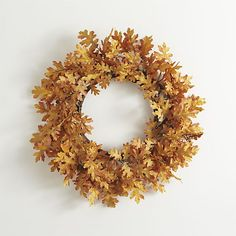 Oak Leaf Artificial Wreath  | Crate and Barrel