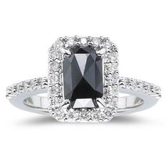 Gothic Engagement Rings Black Diamond 6