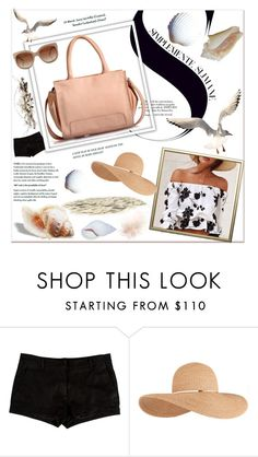 """""""Breezy Beach"""" by phiveriversuk ❤ liked on Polyvore featuring L'Agence, Eugenia Kim and STELLA McCARTNEY"""