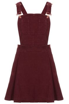 I freaking love the crap out of this. MOTO Burgundy Cord Pini Dress