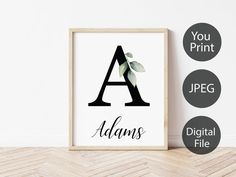 Personalized PRINTABLE Family Name Sign Customized Wall Art | Etsy Wedding Gifts For Groomsmen, Groomsman Gifts, Printing Services, Online Printing, Wedding Shower Gifts, Love Posters, Family Print, Family Name Signs, Photo Center