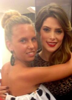 Hug between Giorgia Marin and Ashley Greene at the premiere of Greene's new movie 'Burying The Ex' during the 71st Venice Film Festival, on September 4th in Venice, Italy.