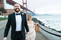 San Francisco city hall and Golden Gate Bridge elopement wedding  photography / Photo by One Eleven Photography