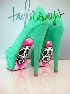 Day of the dead on mint green