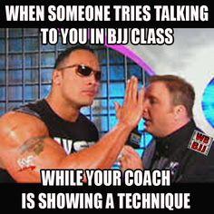 Shhhh! No talking while coach is teaching! #BJJ #JiuJitsu #BrazilianJiuJitsu #BJJmeme