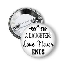 Daughters Love Never Ends Cute Gift Ideas for your parents by NannyGoatsCloset