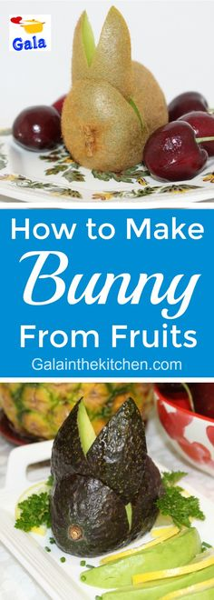 Fruits in the shape of a bunny. Easy and cute fruit garnish idea. Check out technique with step by step photos and video → Cute Fruit, Cute Food, Good Food, Easter Recipes, Easter Food, Pizza Recipe Video, Fruit Garnish, Food Decoration, Crust Recipe