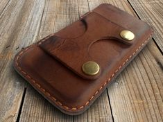iPhone 6 case vintage Handcrafted genuine leather case by LeonUA