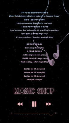 BTS Magic Shop Lyrics Wallpaper | Lockscreen BTS  RM | Jin | Suga | Jhope | Jimin | V | Jungkook | Kpop