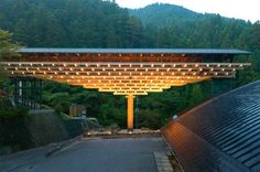 The Yusuhara Wooden Bridge Museum Complements Its Forested Mountain Surroundings