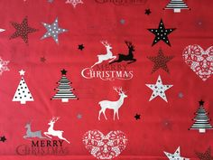 Christmas Fabric, Red Christmas, Merry, Fabrics, Invitations, Etsy Shop, Group, Business, Board
