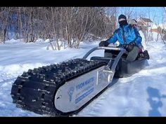 ▶ Amazing MTT-136 Electric Sled | My Track Technology | Mind Blowing - YouTube