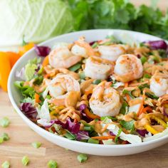Grilled Shrimp Thai Salad with a Spicy Peanut Dressing - The Table