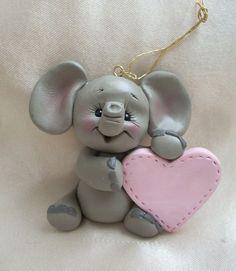 Polymer Clay Christmas Ideas | Clay Craft Ideas | polymer clay elephant | Craft…