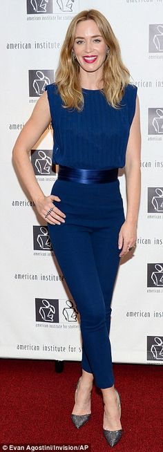 Emily Blunt shows off her slim figure at charity gala #dailymail